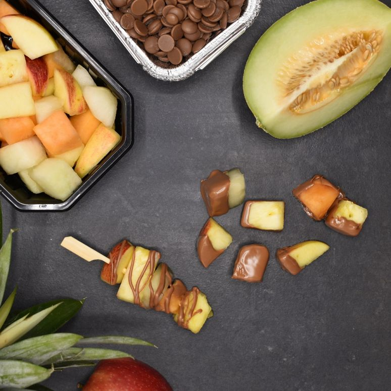 BBQ-Fondue met Chocola & Fruit (2-3 p.)