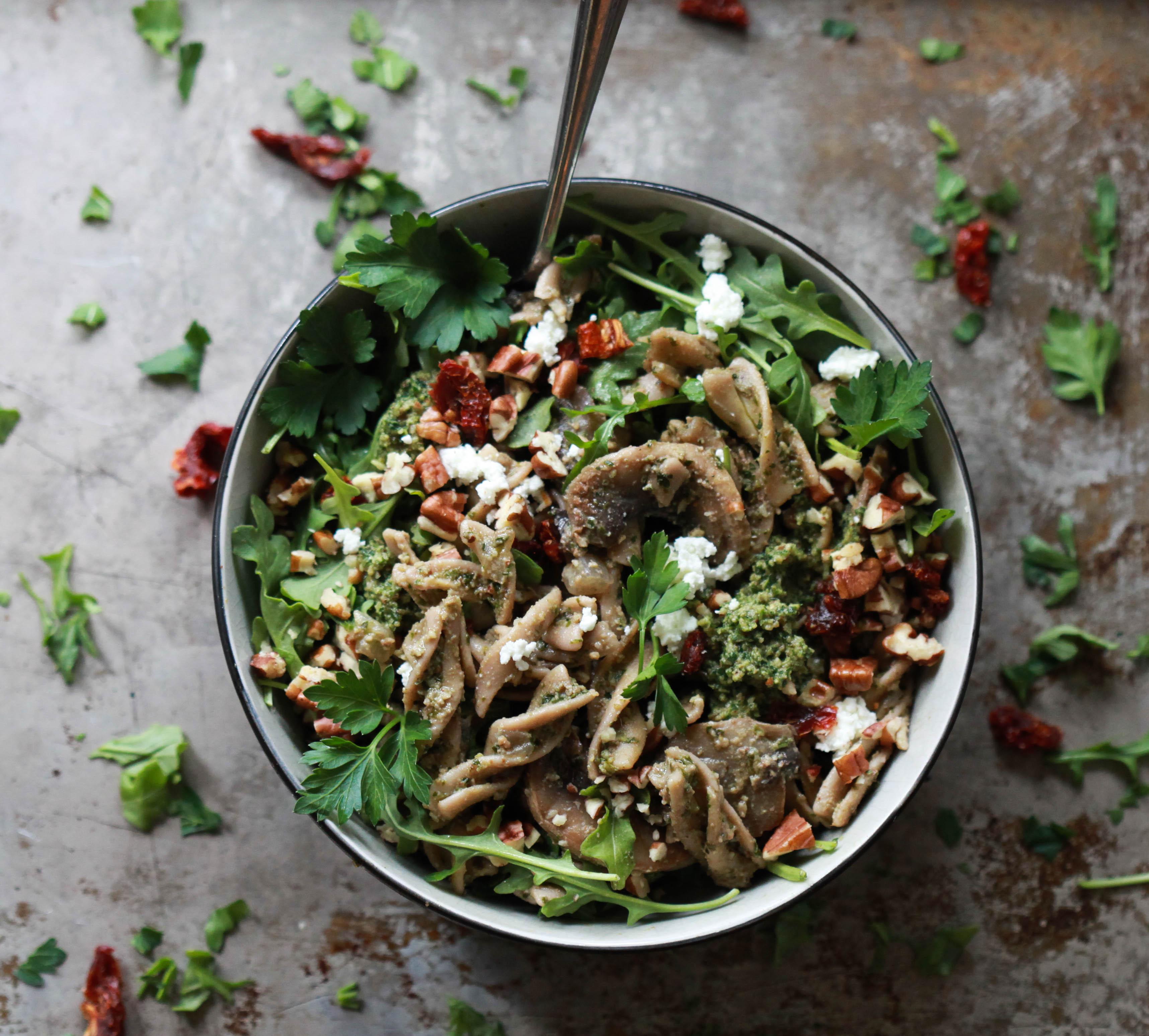 Pastasalade met Pesto en Champignons I BBQ Recept I A-Z Barbecue Service