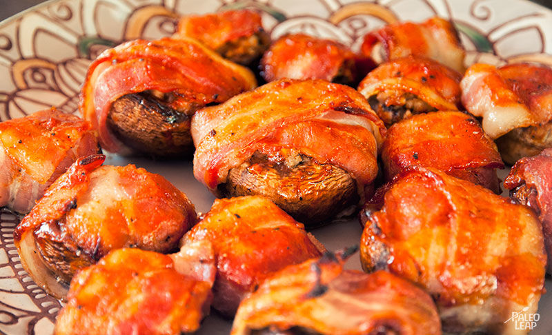 Grote Champignonprikkers met Bacon I BBQ Recept I A-Z Barbecue Service